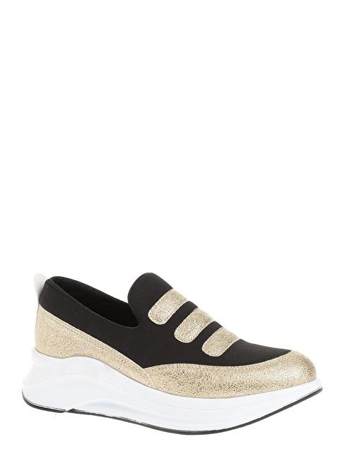 Derigo Dolgu Topuklu Ayakkabı Altın
